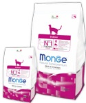 MONGE CAT INDOOR Корм для домашних кошек с курицей (400 г)